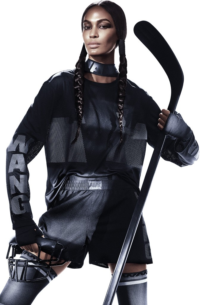 Joan Smalls for Alexander Wang x H&M Photo by Mikael Jansson