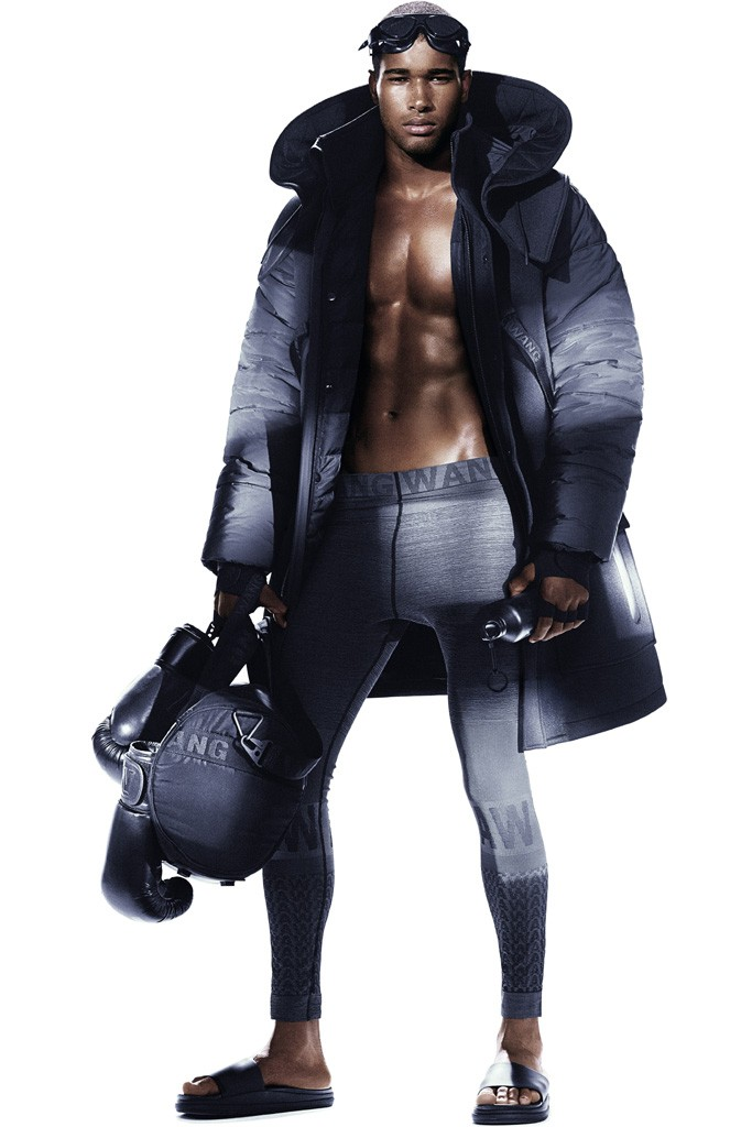 Rivaldino dos Santos for Alexander Wang x H&M Photo by Mikael Jansson