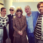 Sarah Andelman, Karl Lagerfeld, Anna Wintour, Jony Ive, Marc Newson Photo by Suzy Menks